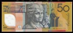 AA03 $50 Polymer Australian Banknote