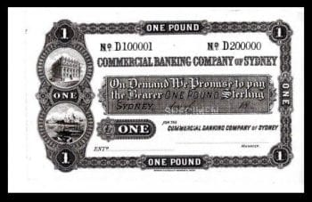 Commercial Bank of Sydney One Pound