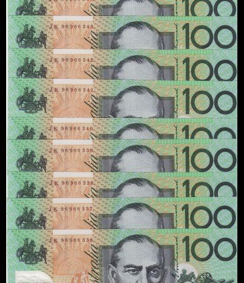 One Hundred Dollar Last Prefix 1996