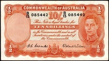 Ten Shillings Commonwealth of Australia