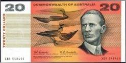 Twenty dollar Coombs Randall Unc 1967