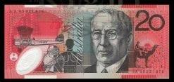Twenty Dollars McFarlane/Evans AA98. First prefix 1998