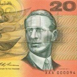 20 Dollars - Decimal Paper