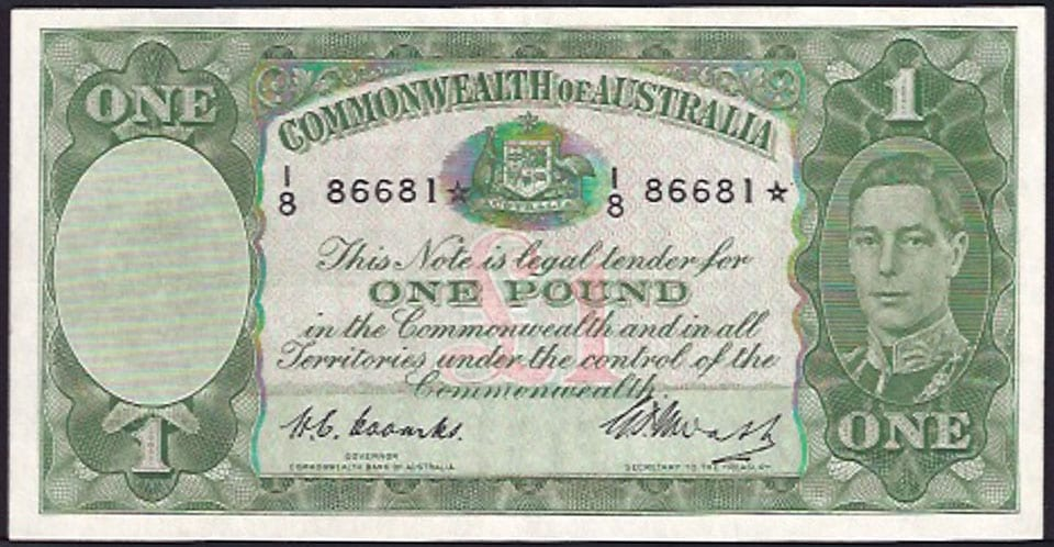 One Pound Star Banknote
