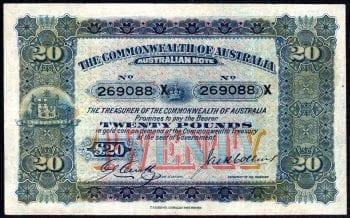 R65B Twenty Pound Pre-decimal Banknote