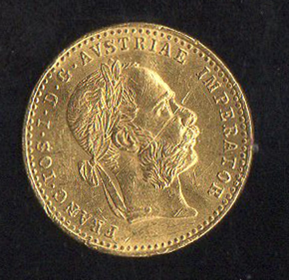 Austrian Hungarian Bohemia Gold Coin The Right Note