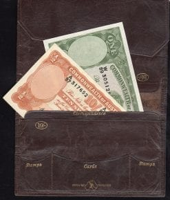 Wallet 1943 Justin and Notes