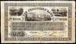 The Producers Bank of Sydney One Pound 1893