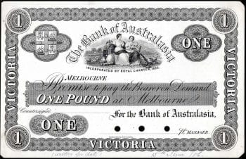 MVR1c 186- One Pound Melbourne Banknote