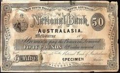 National Bank of Australasia 50 Pound Melbourne