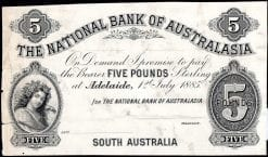 National Bank Five Pound Adelaide 1885 Specimen