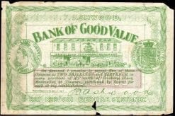 The Bank of Good Value 1897