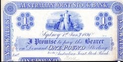 The Australian Joint Stock Bank Limited One Pound 1894 Sydney