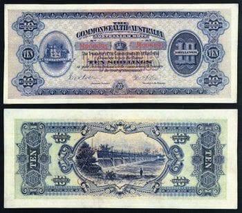 Ten shillings Commonwealth of Australia.