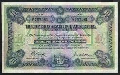 1918 George V Cenitty/Collins Ten Pound Note