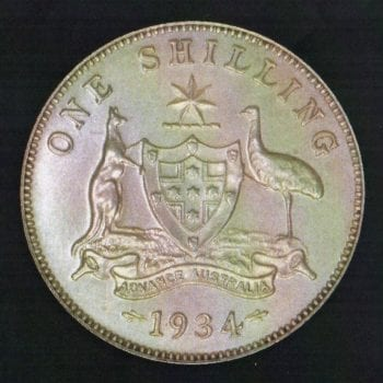 1934 George V Proof Shilling