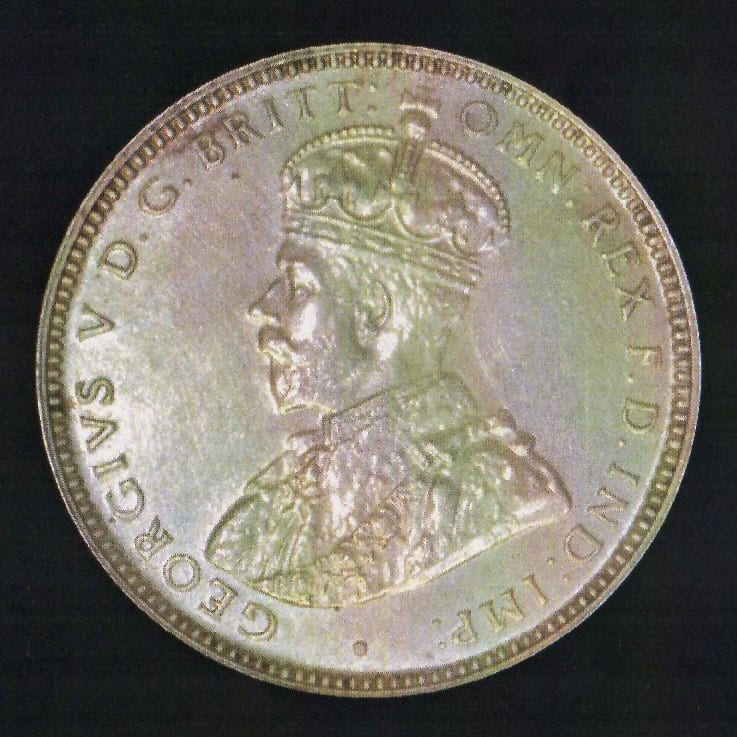 1934 George V Proof Shilling Reverse