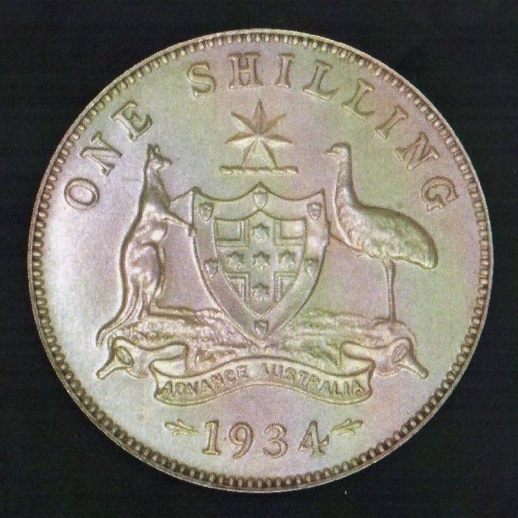 1934 George V Proof Shilling