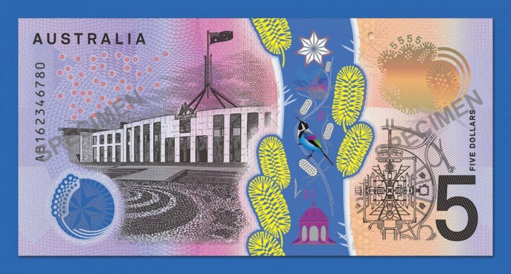 new australian 5 dollar note