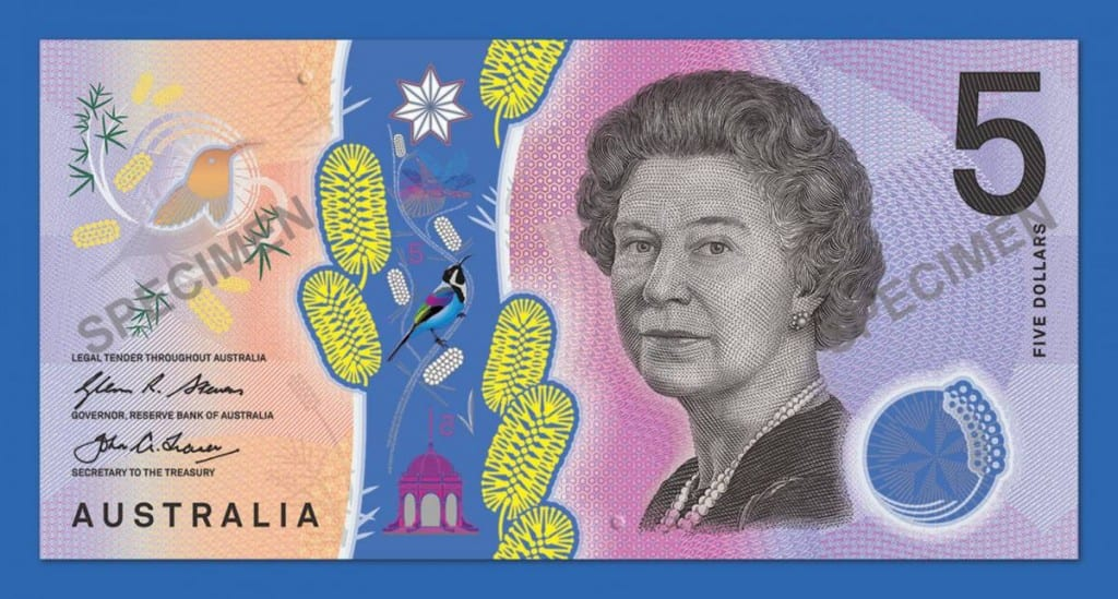 new australian 5 dollar note II