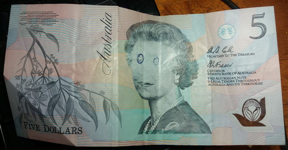 how to tell counterfeit australian notes