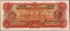 King George V KellCollins Ten Pound Note 1925