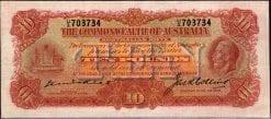 King George V KellCollins Ten Pound Note 1925