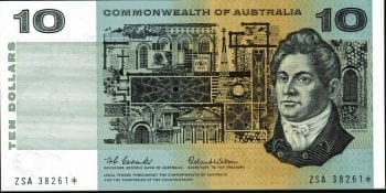 Ten Dollar Decimal Star Coombs Wilson 1966 R301SF 495