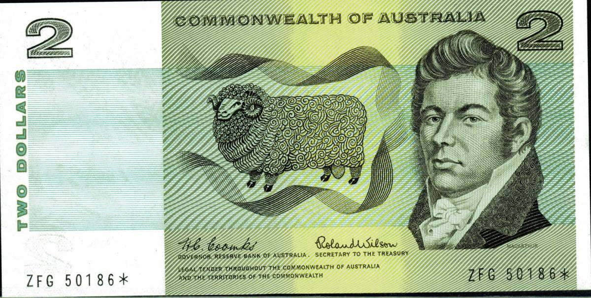 Two Dollar Decimal Star Coombs Wilson 1966 ZFG 50186