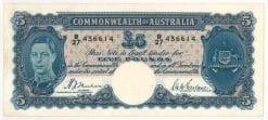 Five Pound 1942 KGVI gVF Sheehan McFarlane