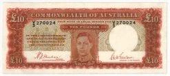 Ten Pound 1940 KGVI EF Sheehan McFarlane