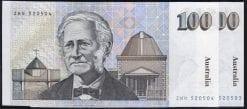 100 dollar Australian paper 1986