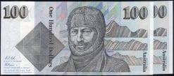 100 dollar Australian paper 1986-rev