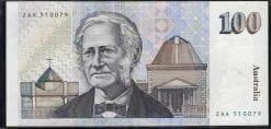 100 dollars rare Australian banknote 1984