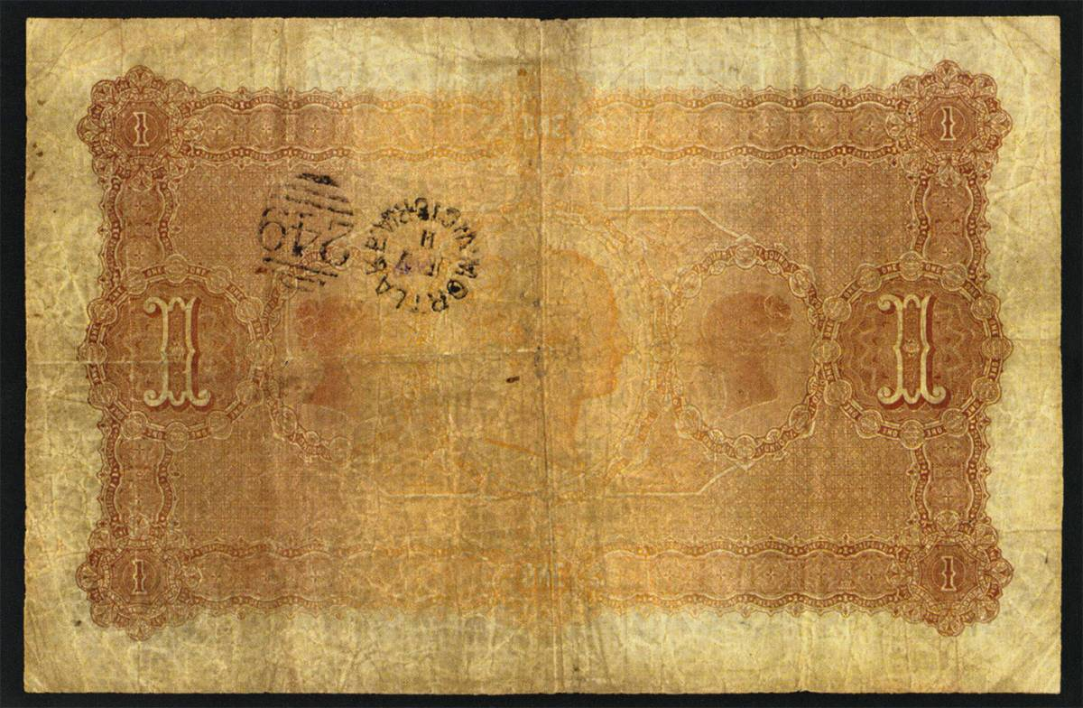 Bank Of Victoria Limited 1853 1927 1908 One Pound Issued Note Mvr3c The Right Note