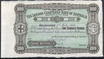 LONDON BANK 100 POUND OBVERSE