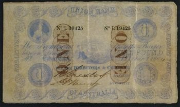 One Pound 1864 Issued Note