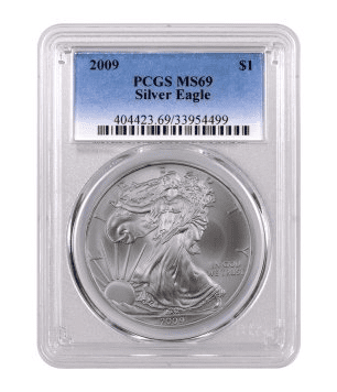 pcgs sample slabbed coin