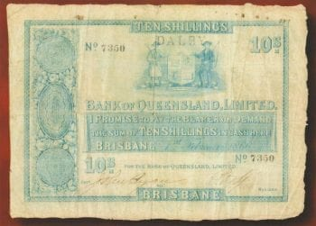 Ten Shilling Note 1866 gF 7350
