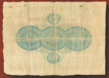 Ten Shilling Note 1866 gF 7350 rev