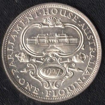 1927 FLORIN obverse