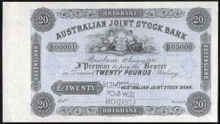 AJSB 1884 20 POUND OBVERSE