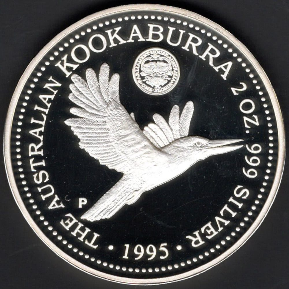 Kookaburra 2 Ounce Proof Coin 1995 The Right Note