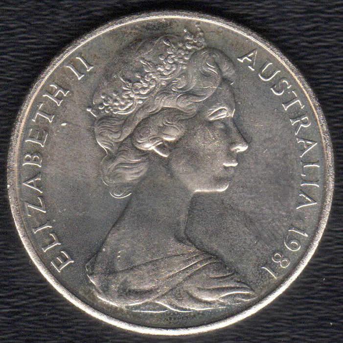 1981 Twenty Cent (20c) Royal Canadian Mint 3 5 Claw Variety Uncirculated  Australian Decimal Coin