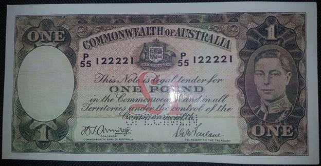 Fraudulent Australian Specimen Banknote