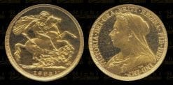 1893S Victoria Proof Gold Sovereign