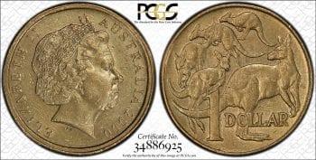 2000 $1 Mule-Struck w/10C Obv