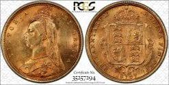 1887-S 1/2 Sov S-3871 Spread JEB