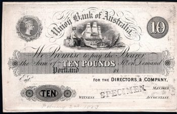 UNION BANK 1883 TEN POUND PORTLAND