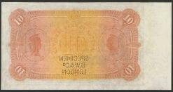 1893 Ten Pound Specimen Note rev